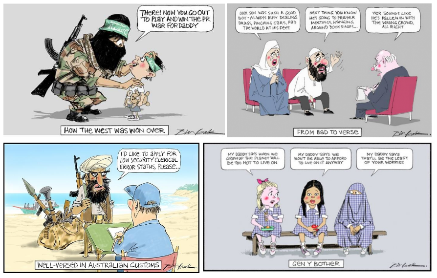 Racist cartoons by Bill Leak