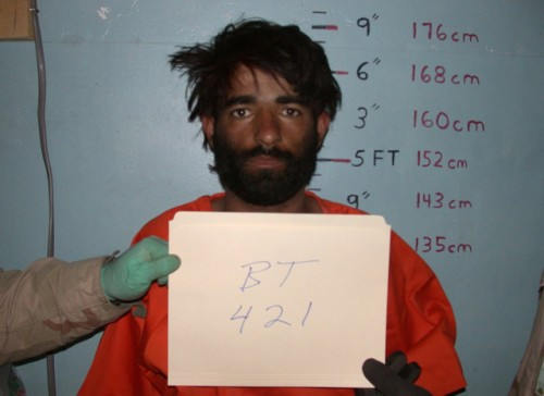 Dilawar's mug shot from Bagram Prison, before he was tortured to death.